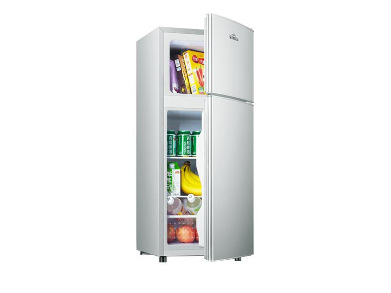 Mini refrigerador con doble puerta