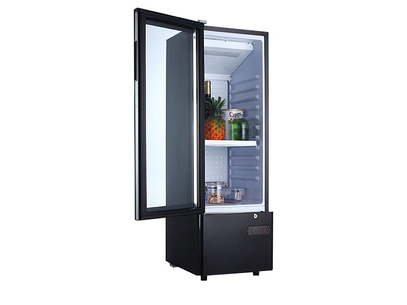 Mini refrigerador de vino con puerta de vidrio