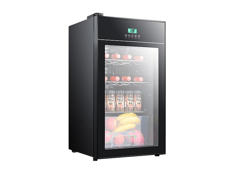 Mini refrigerador para enfriamiento de vino con puerta de vidrio (dinero inteligente)