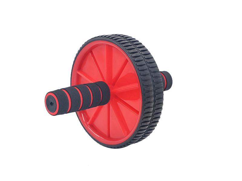 Rueda de vientre de dos ruedas con esponja bicolor de 18 cm de diámetro